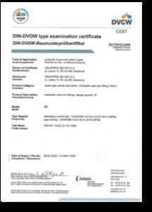 DVGW Certificate 2015 - EN
