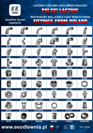 White Heart Malleable Iron Fittings - Poster