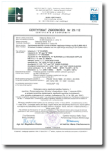 Certificate of conformity 29_12 – whiteheart threaded malleable cast iron pipe fittings