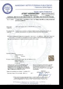 Hygienic Certificate 2018