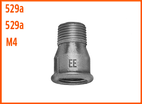 Socket with internal and external thread z 529